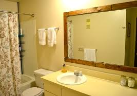 Frame For Bathroom Mirror by How To Frame A Bathroom Mirror With Old Pallets Pickled Barrel