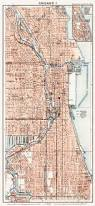 Chicago United States Map by Old Map Of North Chicago In 1909 Buy Vintage Map Replica Poster