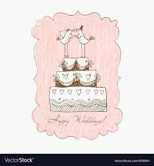wedding cake drawing wedding cake draw royalty free vector image