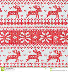 reindeer on on knit fabric background stock illustration image