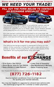 nissan finance early termination used car trade in program nissan trade in exchange in denville nj