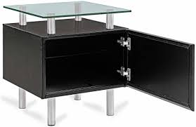 modern black end table black end table with storage clicvan