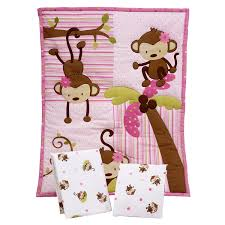 Mini Portable Crib Bedding by Amazon Com Little Bedding By Nojo 3 Piece Little Monkeys