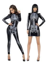 Halloween Skeleton Top by Ladies Skeleton Catsuit Costume Fever Womens Halloween Fancy