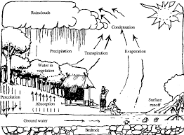 water cycle coloring page kids coloring
