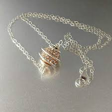 silver crystal ball necklace images Sterling silver spiral cage crystal ball necklace jpg