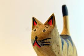wooden cat wooden cat stock image image of fortune wood whiskers 42893973