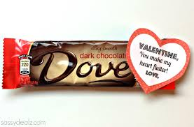 gift ideas for valentines day dove chocolate bar s day gift idea crafty morning