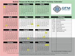 dubai financial market 2017 2018 holidays dfm holidays 2017 2018