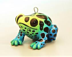 frog ornaments etsy