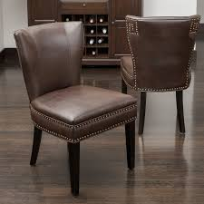 Brown Leather Accent Chair Best Selling Home Decor Jackie Accent Dining Chair Hayneedle