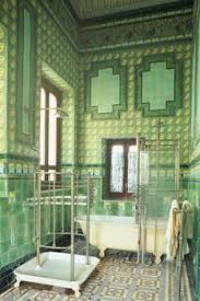 Bathrooms In India Going Green The Palmerie Wallpaper In The Guest Room Matches The