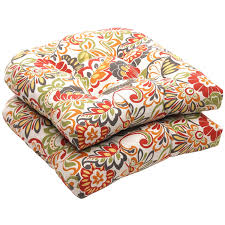 Garden Treasures Chair Cushions by Shop Garden Treasures Damask Deep Seat Patio Chair Cushion For