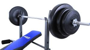 centric bench w 50kg weight set youtube