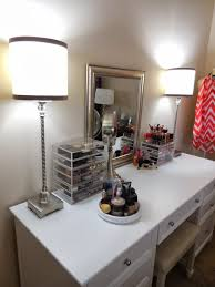 Modern White Vanity Table Furniture Modern White Vanity Table With Drawers And Makeup