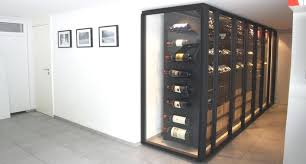 locking wine display cabinet stylish custom wine cabinet metal glass modern wine cellar other