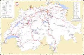 Map Of Italy And Switzerland maps swiss network