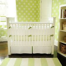 Green And White Crib Bedding Nursery Bedding New Arrivals Inc White Pique With Green Trim