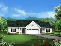Familyhouseplans Turnberry Place Ranch Duplex Plan 007d 0243 House Plans And More