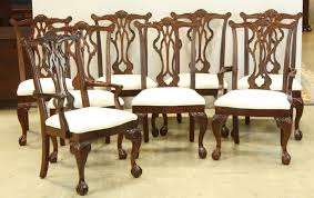 thomasville chippendale style dining chairs