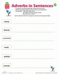 circle the adverbs quickly adverbs worksheets and a sentence