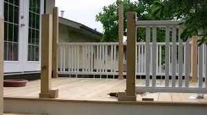 building a deck railing design to installation