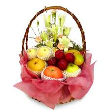 fruit flower basket fruit with flowers in a beautiful basket gifts greets