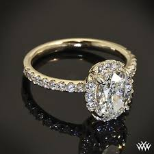 yellow gold oval engagement rings engagement ring yellow gold oval 1 ifec ci