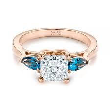 engagement rings london custom three london blue topaz and diamond engagement ring