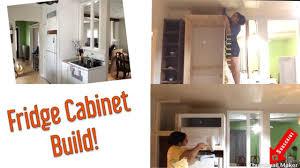 how to build a cabinet around a refrigerator how to build a fridge cabinet enclosure kitchen renovations diy