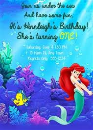 little mermaid theme birthday party printables