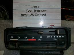 chevy tracker 1990 used geo tracker a c u0026 heater controls for sale