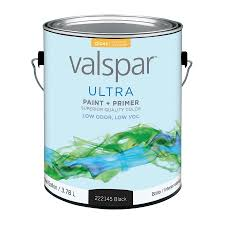 shop valspar ultra black gloss latex interior exterior paint and