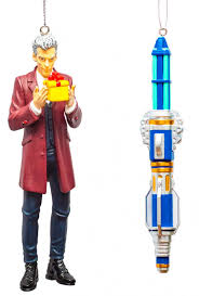 twelfth doctor and blue sonic screwdriver ornament box set