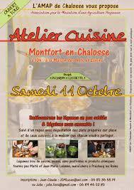 affiche atelier cuisine julie amap chalosse