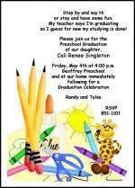 kindergarten graduation cards preschool kindergarten crayons graduating invites and announcing