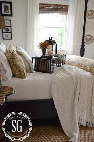 Guest Bedroom Bed - stonegable fall house tour stonegable