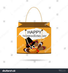 paper shopping bags collection thanksgiving day stock vector