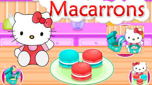 kitty cooking tasty macarrons game episode kitty