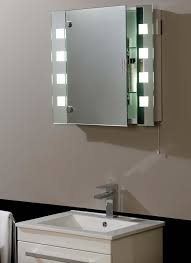 Bathroom Mirror With Storage Bathroom Mirror Cabinets With Led Lights Pertaining To Warm