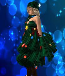 second life marketplace happy christmas tree tree dress very cute