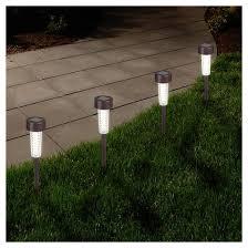 6 textured led solar path lights bronze garden target