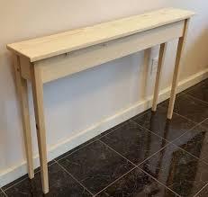 Small Oak Console Table Tall Console Table Narrow Oak Console Table Half Circle Foyer