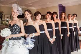 black and white wedding bridesmaid dresses black and white outdoor wedding in siena italy