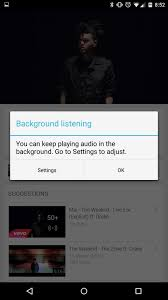 youtube music key is live enable background playback