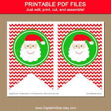 digital art star printable party decor christmas santa banner