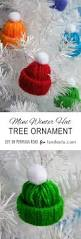 make mini winter hats to hang on your christmas tree creative