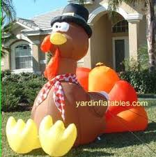 Blow Up Lawn Decorations Thanksgiving Turkey Original