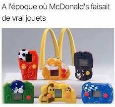 cuisine mcdo jouet repas heureux mcdonalds sur jouets des ées 1980