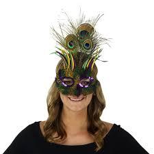 peacock mardi gras mask goose biot feather mask mardi gras